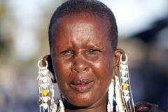 Maasai woman - stock photo