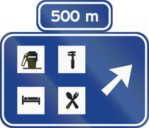 Stock Illustration of Road sign used in Spain - Service area