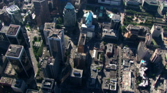 Aerial view of downtown Vancouver, British Columbia. Shot in 2003. Stock Footage