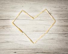 Valentine heart of toothpicks, symbol of love - stock photo