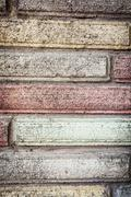 Detail of colorful brick wall Stock Photos