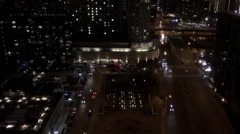Downtown Chicago traffic time lapse - stock footage