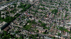 Flying over residential areas in Toronto, Ontario. Shot in 2003. Stock Footage