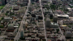Looking down between thoroughfares in Montreal, Quebec. Shot in 2003. - stock footage
