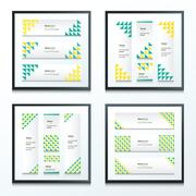 Set Bright modern abstract banner design 4 in 1 - stock illustration