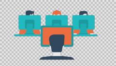 EDUCATION 3 - colored animation flat computer generated icons clips alpha Stock Footage