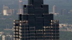 Flight passing SunTrust Plaza in Atlanta, Georgia Stock Footage