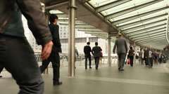 Hong Kong business, workers Stock Footage