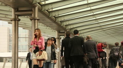 Business people in Hong Kong Stock Footage