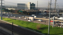 4K UltraHD Dallas expressway with heavy traffic Stock Footage