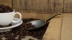Fresh Roasted arabica coffee beans - stock footage