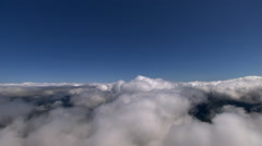 Flight through fluffy clouds Arkistovideo