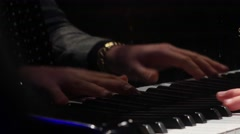 Stock Video Footage of reflection  of Hands play on the piano