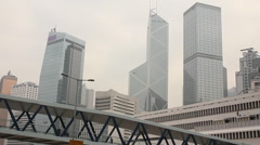 Hong Kong economy, Central business district Stock Footage