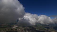 Steeply tilting flight through cloud mass Arkistovideo
