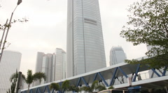 IFC2 skyscraper, Hong Kong business Stock Footage
