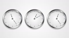 Mad wall clocks concept video animation Stock Footage