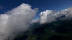 Rocking flight through cumulus clumps - stock footage