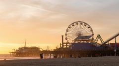 Santa Monica Sunset Timelapse Stock Footage