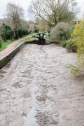 Drained Canal - stock photo