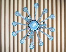 Stock Photo of Antique chandelier of blown glass.