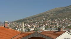 Beautiful view of roofs and the cityscape in Mostar Stock Footage