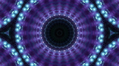 Purple and blue kaleidoscopic background - stock footage