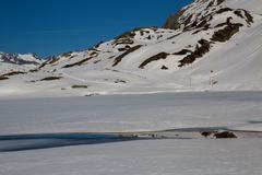 Alps in winter - stock photo