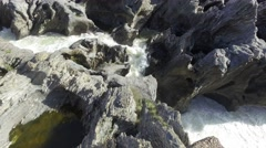 Waterfall in the Lava Fields Stock Footage