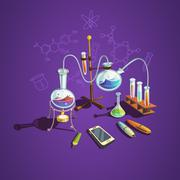 Chemistry science concept Stock Illustration