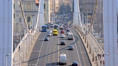 Traffic on the road - stock footage