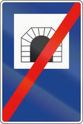 Stock Illustration of Road sign used in Spain - End of Tunnel