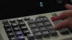 Giant Adding Machine Stock Footage
