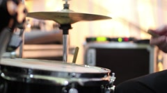 Playing drummer. Hands of a man with sticks in hand beating a drum 07 Stock Footage