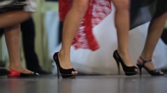 Dancing feet people at the wedding party. Dancer makes their steps 06 Stock Footage