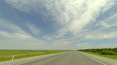 Clouds over the road. The path from Novogutovo village - Ubinskoe village, Stock Footage