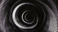 Stock Video Footage of Chaotic RIng and Circles