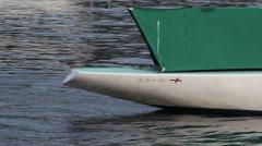 6 Metre boat stern Stock Footage