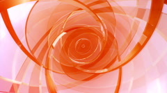Background of rotating translucent pink disks Stock Footage