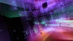 Background of multicolored falling cubes Stock Footage