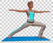 Yoga Pose With Isolated Background - stock illustration