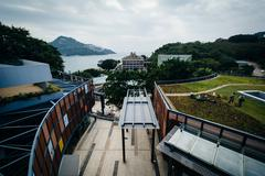 View of buildings at Stanley, on Hong Kong Island, Hong Kong. Stock Photos