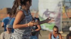 Girl Dancing DanceHall on The Dance Floor - stock footage