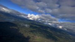 Flying toward smoke-like cloud billows Stock Footage