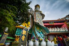 The Kwum Yam Shrine at Repulse Bay, in Hong Kong, Hong Kong. Stock Photos
