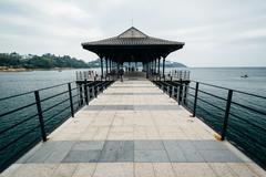 The Blake Pier at Stanley, on Hong Kong Island, Hong Kong. - stock photo