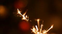 Fireworks sparkler closeup.  Stock Footage
