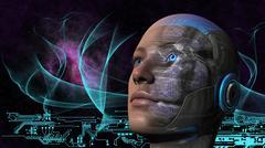 Cyborg Woman - Humanoid Stock Illustration