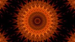 Orange kaleidoscopic background - stock footage
