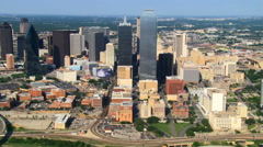 Flying over Dealey Plaza and downtown  Dallas, Texas. Shot in 2007. Stock Footage